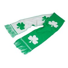 "IRISH SHAMROCK SCARF!!! Ireland St Patricks Day Green & White 48"" x 7"" wrap"