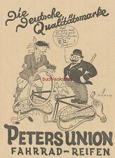 Werbung Anzeige Peters Union Fahrrad-Reifen - Münch - 1926