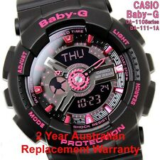 CASIO BABY-G WATCH BA-111-1A FREE EXPRESS BLACK x PINK BA-111-1ADR 2Y WARRANTY