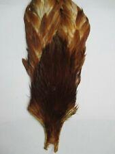brown natural hen neck cape flytying materials flies fly