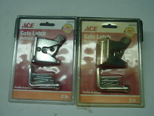 Two (2) Ace Brand Adjustable Gate Latch Automatic Out-swinging Zinc Plate Kit wi