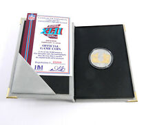 Highland Mint Super Bowl XLII Flip Coin Giants Ony Troy Oz Silver Coin #/10,000