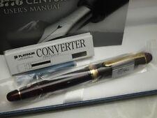 Japanese FP PLATINUM #3776 CENTURY BOURGOGNE 14K Soft Fine-nib with Converter