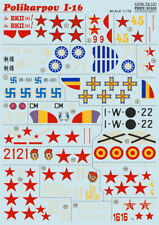 Print Scale 72-101 - 1/72 Decal for Polikarpov I-16 (Scale Aircraft wet decal)