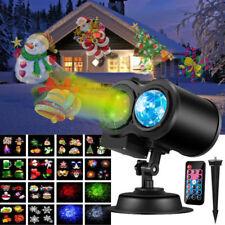 LED Laser Double Projector Lights Waterproof Xmas Halloween Party Landscape Lamp