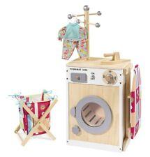 howa Wäschecenter / Waschmaschine / Kinderwaschmaschine Holz natur / weiß 48141