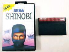 Shinobi Sega Master System Game Cartridge & Case