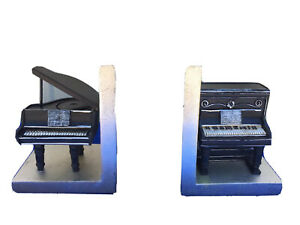 Pier 1 Imports Piano Resin Bookends Black & Silver SKU 2774636
