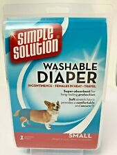 New Simple Solution Washable Dog Diaper Incontinence Females In Heat Travel Pet
