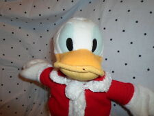 "Disney Sega Christmas Donald Duck Santa 16""  Plush Soft Toy Stuffed Animal"