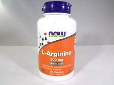 NOW L-Arginine 500mg Amino Acid 100 Capsules [VS-N]
