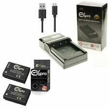2xBattery+USB Charger For P@ DMW-BCG10E L@ DMC-TZ28 DMC-TZ30 DMC-TZ31