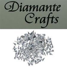 200 x 4mm Clear Diamante Loose Teardrop Flat Back Rhinestone Craft Embellishment