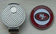 New Nfl San Francisco 49ers Golf Ball marker + Magnetic Hat Clip
