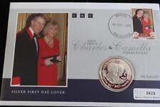 2005 Sierra Leona Moneda De Plata Prueba $10 + certificado De Autenticidad Charles & Camilla Boda PNC