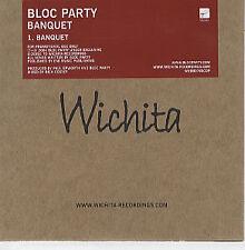 Bloc Party - Banquet - Scarce 1 Track Promo CD Single