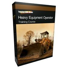 Heavy Equipment Crane Operator Training Book Course CD