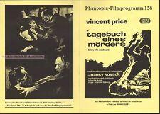 VINCENT PRICE & NANCY KOVACK - DIARY OF a MADMAN * GERMAN MOVIE PROGRAM!