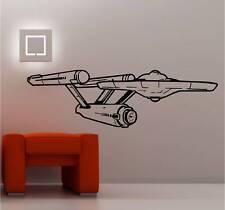 Star Ship Enterprise Star Trek Mur Art Autocollant Vinyle