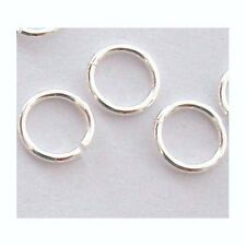 100x 4mm 22 gauge solid 925 Sterling bright SILVER Open Jump Ring connector  R14