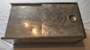 PRIMITIVE ANTIQUE TIN/BREAD HOOSIER CABINET Kiitchen STORAGE HOLDER 40s 50s