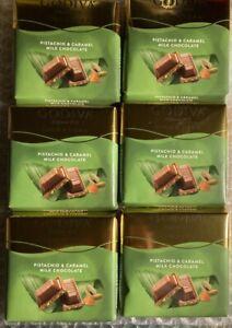 6 package of 60g : 360g Godiva   pistachio caramel milk CHOCOLATE Turkish