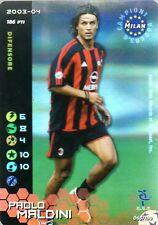 FOOTBALL CHAMPIONS 2003-04 Paolo Maldini 065/100 Milan ITA WIZARD