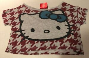 Hello Kitty Youth Half Shirt red & gray Size Small 7/8
