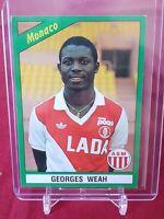 George Weah Monaco France Foot 91 Panini 2nd Rookie Sticker - Very Rare