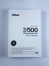 Nikon D500 500 Instruction Owners Manual D500 Book New