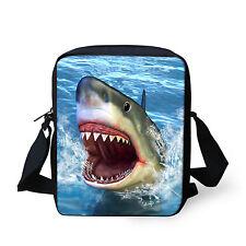 Shark Cross Body Bags Girl Boy Shoulder Bag Adjustable Straps Polyester Small