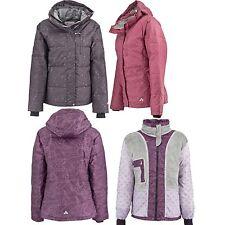 Plum Flower Women'S Down Insulated Winter Snow Jackets Removable Hood Medium