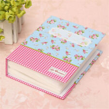 "4x6""Photo Album 100 Photos Storage Case Family Wedding Baby Picture Book Pink HM"