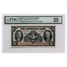 Canada The Dominion Bank $5 1935 Dawson/Carlisle Charlton 2202602 PMG Very Fine