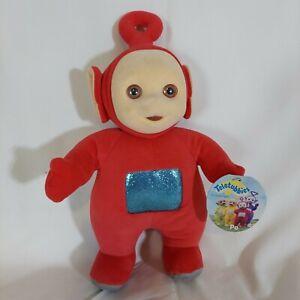 """1998 Teletubbies Red Po Bean Bag Plush Doll 13"""" Eden Toys"""