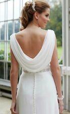 NEW Bliss Bridal Ivory chiffon wedding dress size 14 £399