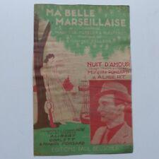 Partition Ma belle marseillaise Nuit d amour MIREILLE PONSARD  ALIBERT
