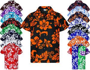 King Kameha Funky Hawaiihemd Hibiscus Verschiedene Farben Hawaiishirt