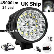 UK Ship 45000Lm 14x LED Cree XML T6 Bicycle Bike Light Cycling Headlight Lamp