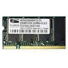 ProMos Technologies 256MB DDR-333MHz-CL2.5 PC2700U-2533-0-A0 *GEBRAUCHT*