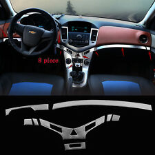 Stainless Interior Middle Console Cover Trim 8Pcs For Chevrolet Cruze 2009-2014