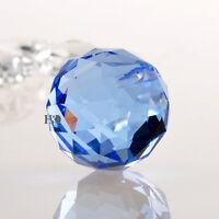 Blue Crystal Glass Ball Prism Chandelier Lamp Hanging Pendant Suncatcher 30mm