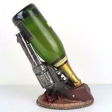 """Two Gun Wild West Wine Bottle Holder Figurine Home Decor 9""""H New"""