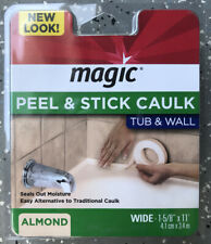 "Magic Peel & Stick Caulk-Tub & Wall (Almond) Wide 1-5/8"" x 11' 3018-71283A-1215"