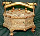 1940'S VINTAGE WOODEN HANDCRAFTED SPICE/MASALA BOX VERY DECORATIVE BOX