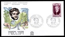 Naturforscher Georges Cuvier (1769-1832). Dinosaurier.  FDC. Frankreich 1969