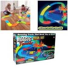 New 18 Feet 360 Pieces Magic Tracks Mega Set With 2 LED Race Cars Glow In Dark