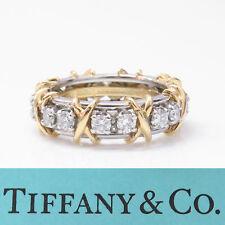 NYJEWEL Tiffany & Co. Schlumberger 18k Platinum 'XO' 1.75ct Diamond Wedding Ring