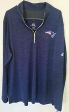 NWT MED Majestic New England Patriots Men's Quarter-Zip Pullover Sweatshirt