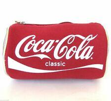 Rosso Tela Argento Vinile Classico Coca-Cola Soda Lattina Custodia Multi Borsa